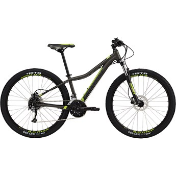 Cannondale Trail Womens 2 Anthracite with Jet Black and Acid Green, Gloss
