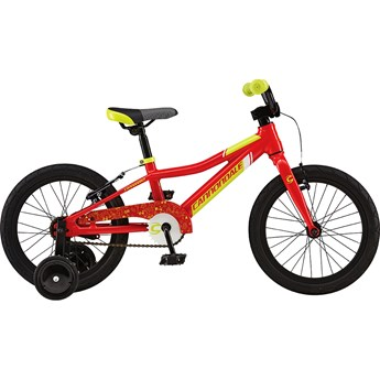 Cannondale Trail 16 Single-Speed Boys Race Red with Neon Spring and Magnesium White, Gloss