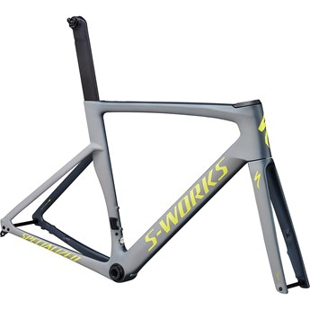 Specialized Venge S-Works Disc Frameset Satin Battleship/Cool Grey/Gloss Team Yellow/Edge Fade/Clean
